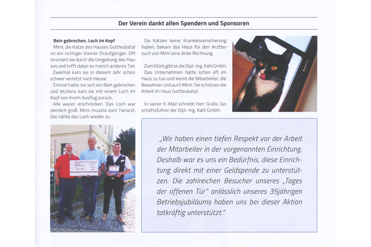 Vereinszeitung Lebenshilfe