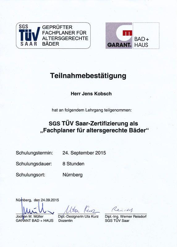 2015-09-24 Teilnahmebestätigung Jens Kobsch