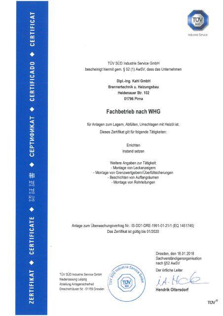 2018-01-18 Zertifikat Tüv Süd